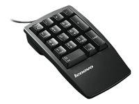 17-Key Stealth Black Numeric Keypad, USB, černá, numerická, 17 k