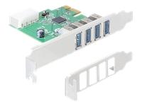 DeLock PCI Express Card > 4 x USB 3.0 USB-adapter PCIe USB 3.0 x 4