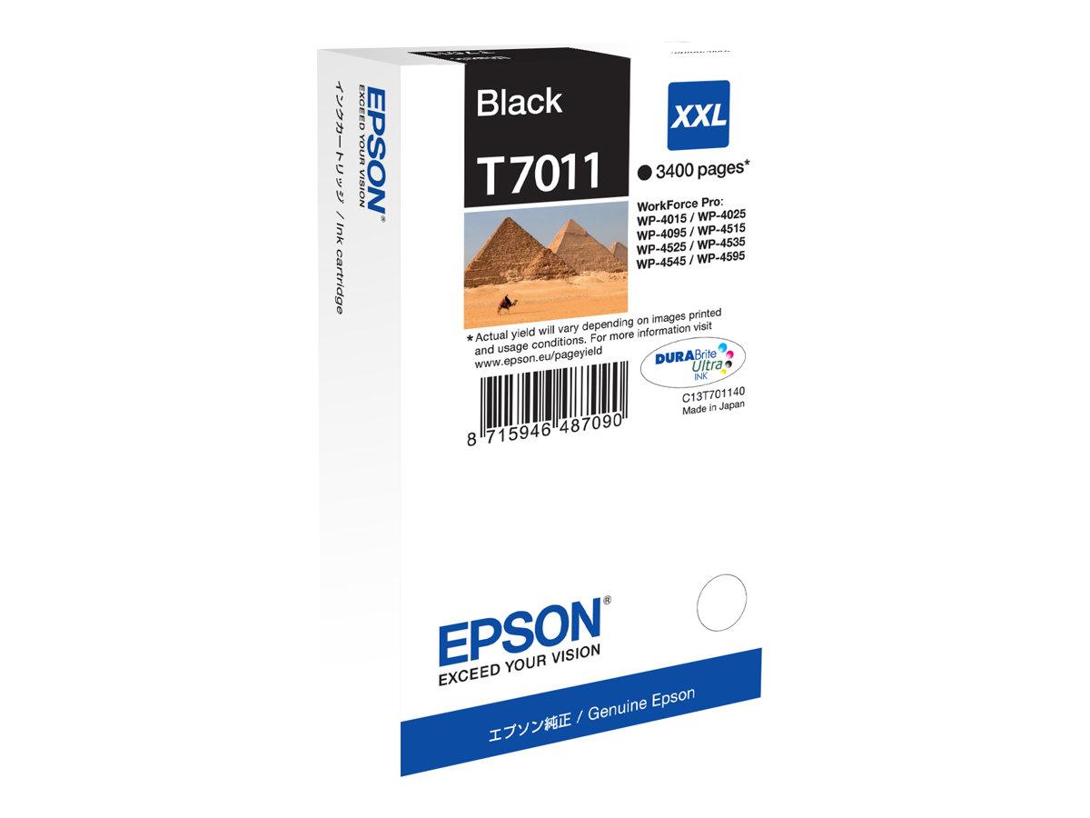 Epson T7011 - pyramide - noire - originale - Cartouche d'encre