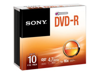 Sony 10DMR47SS - DVD-R x 10 - 4.7 Go - support de stockage
