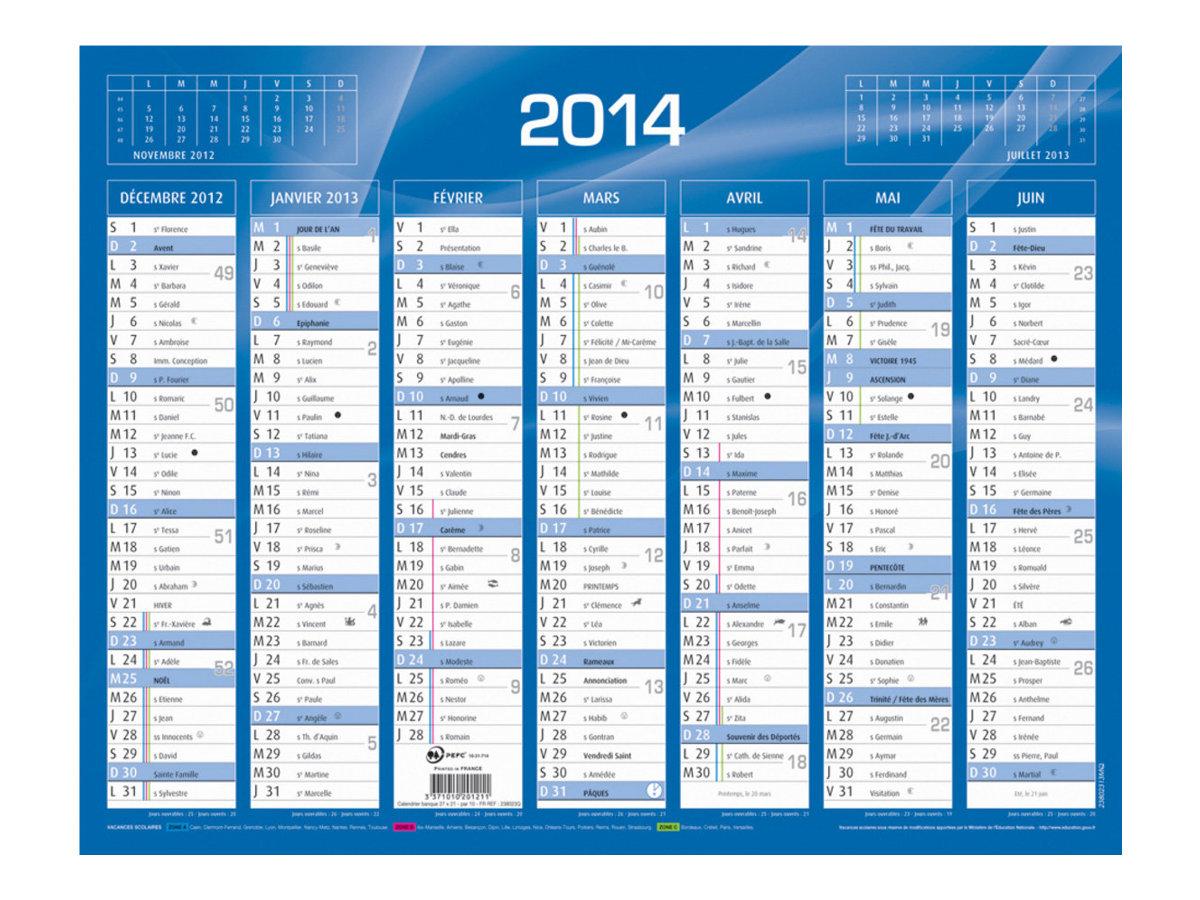 Quo Vadis Selection - Calendrier de banque - 2017 - bleu - disponible en différentes tailles