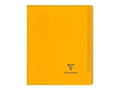 Clairefontaine Koverbook A5+ - Cahier - 17 x 22 cm - 48 feuilles / 96 pages - quadrillé - transparent, disponible dans différentes couleurs