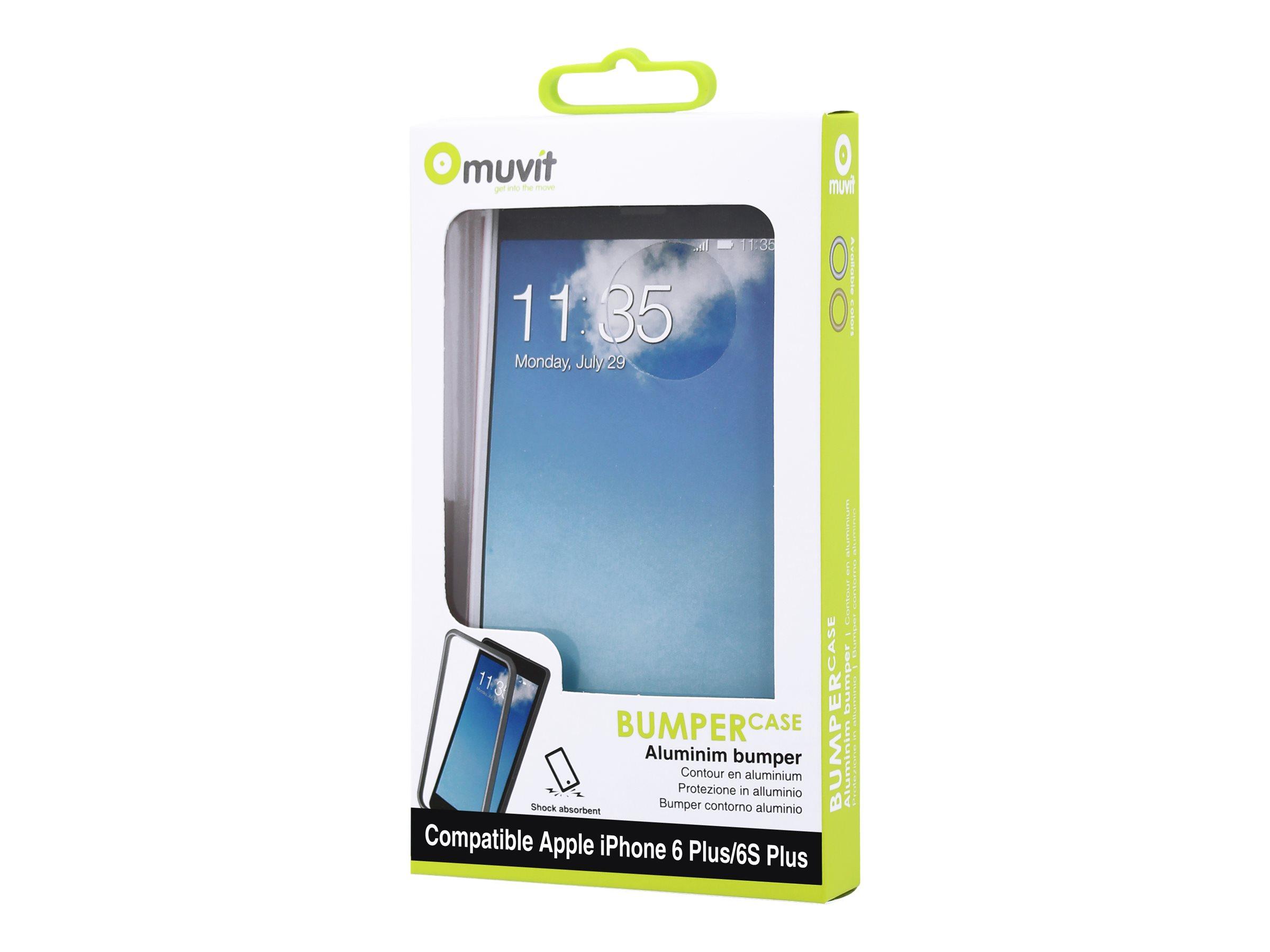 Muvit - coque pare-chocs pour iPhone 6 Plus, 6s Plus - rosegold