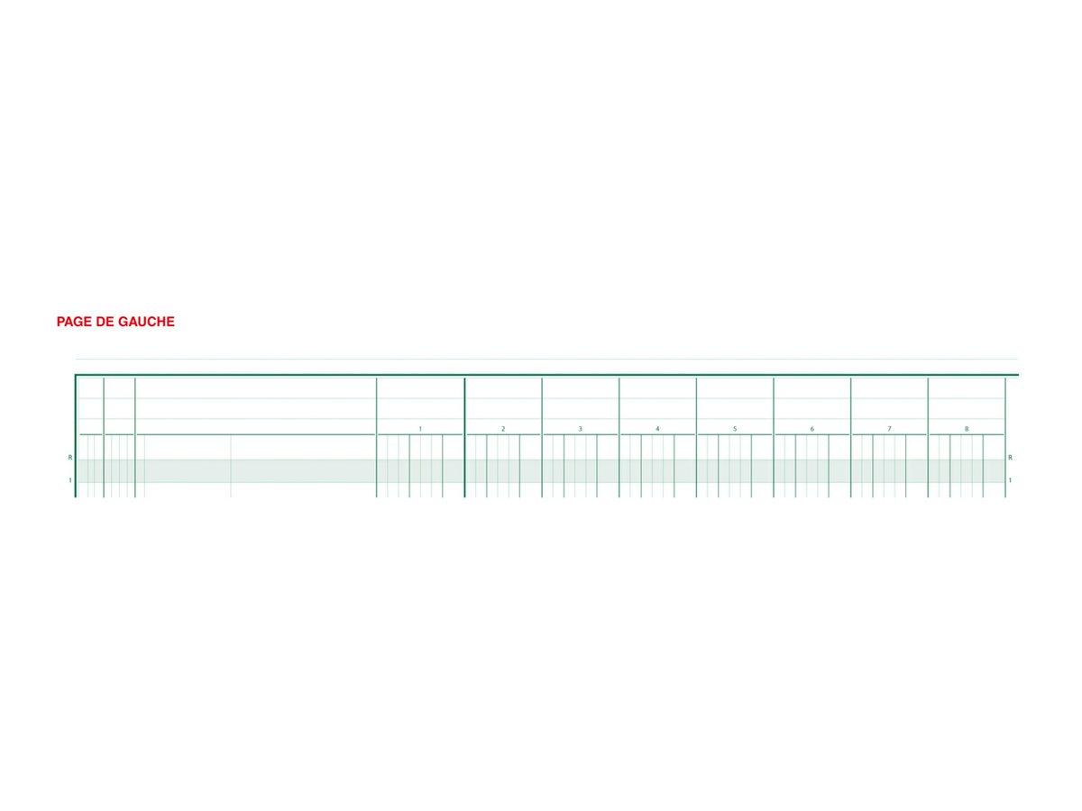 Exacompta - Registre - 20 colonnes - 250 x 320 mm - paysage