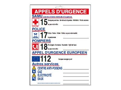 Pickup - Affiche de sécurité - téléphone d'urgence
