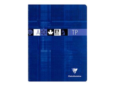 Clairefontaine - A5+ - Cahier Travaux pratiques - 17 x 22 - 80 pages - Grands carreaux