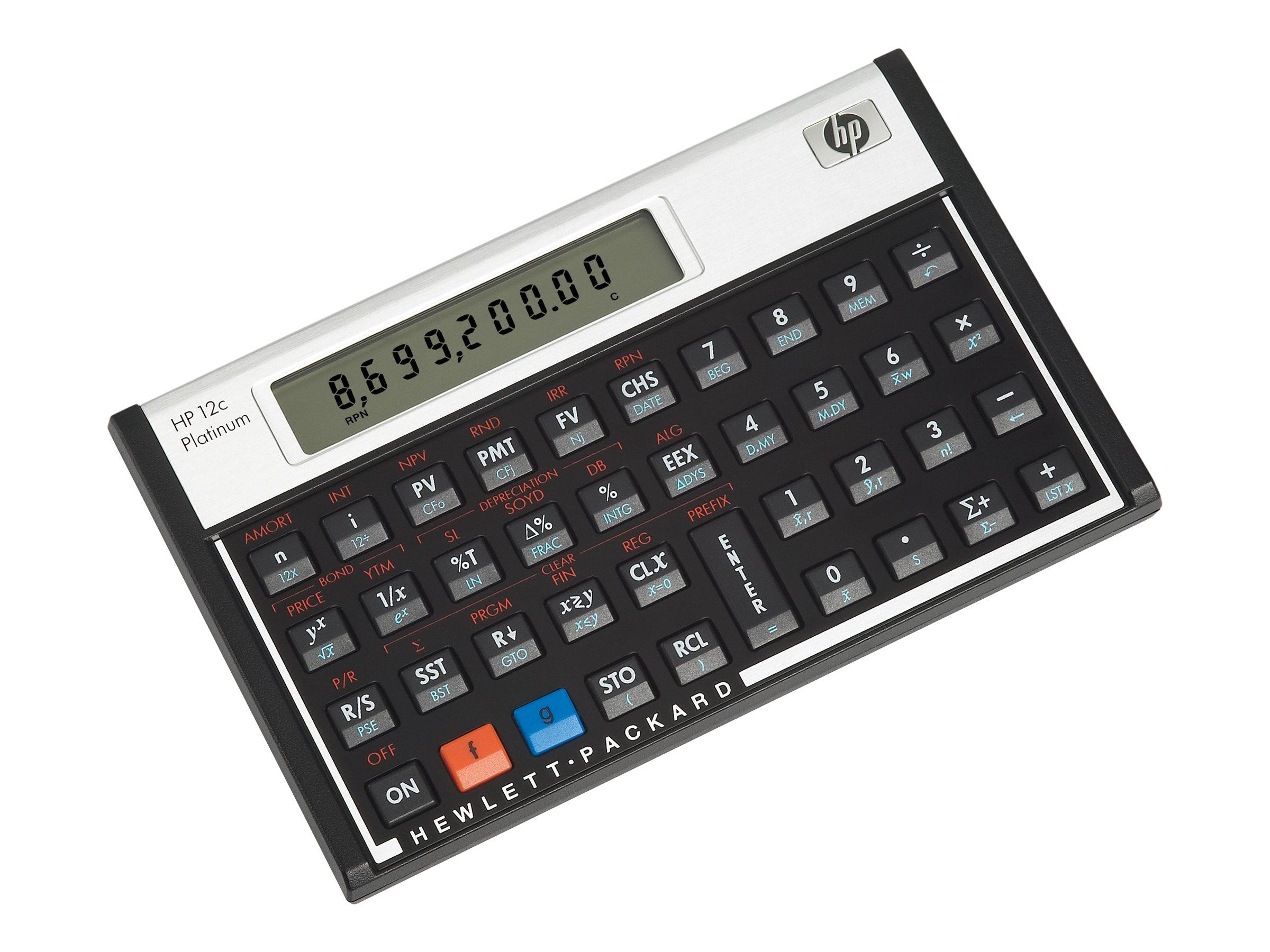 HP 12c Platinum financial calculator F2231AAABA – Financial Calculator