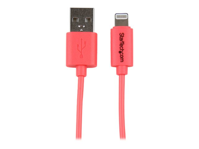 Image of StarTech.com 1m Pink Apple 8-pin Lightning to USB Cable for iPhone iPad - iPad / iPhone / iPod charging / data cable - Lightning / USB - 1 m