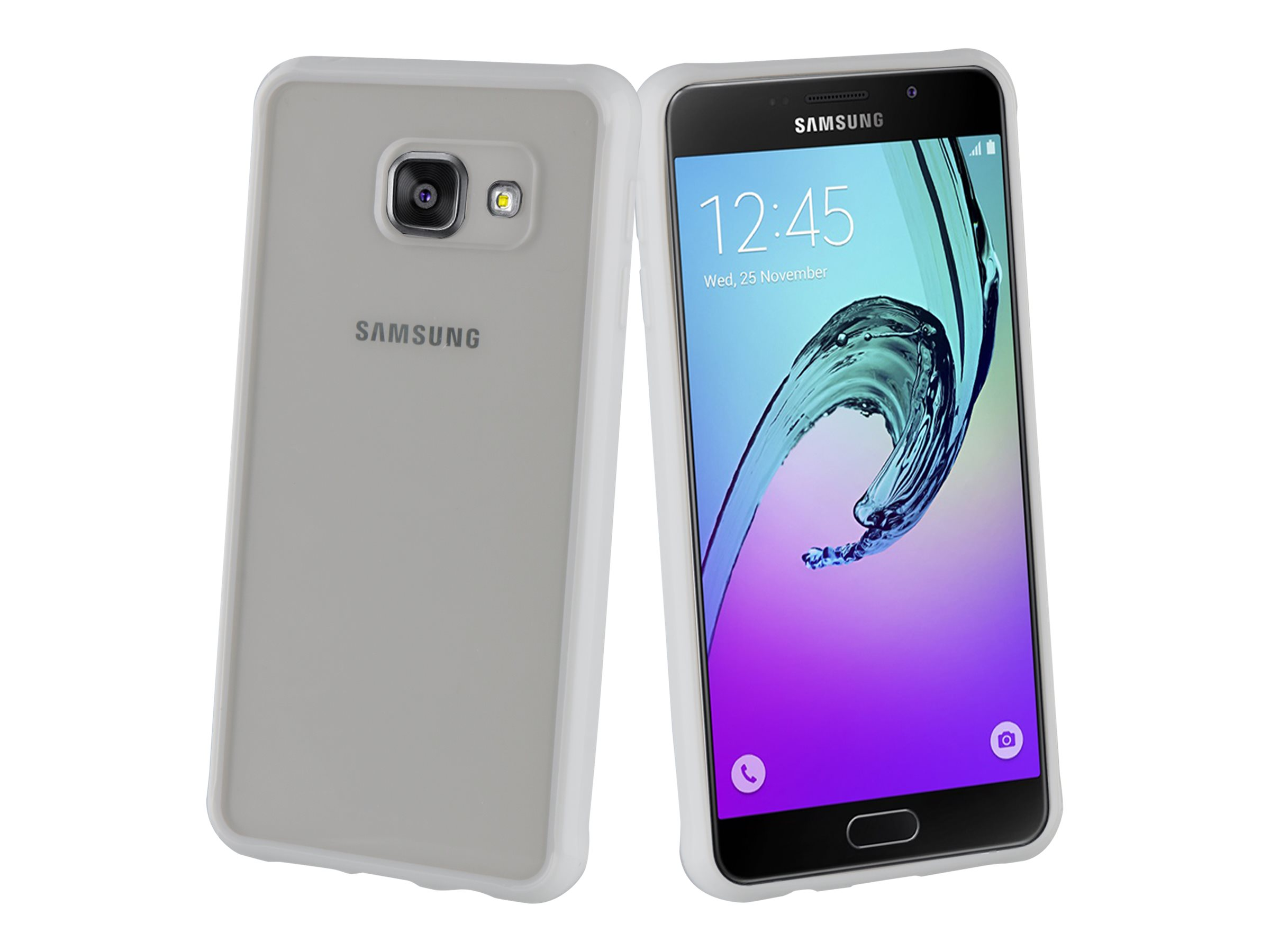 Muvit Crystal Bump - Coque de protection pour Samsung Galaxy A3 - blanc, transparent