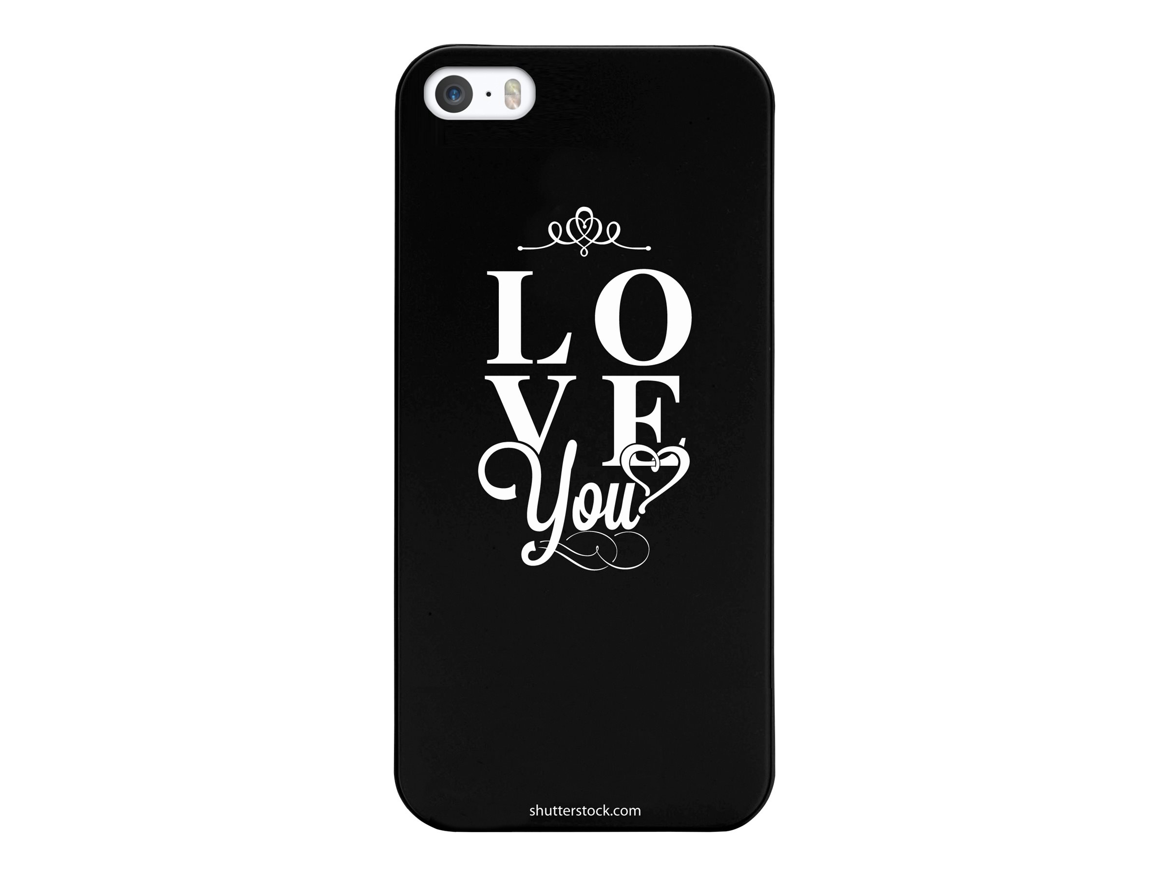 Muvit love you - Coque de protection pour iPhone 5, 5s - noir, blanc