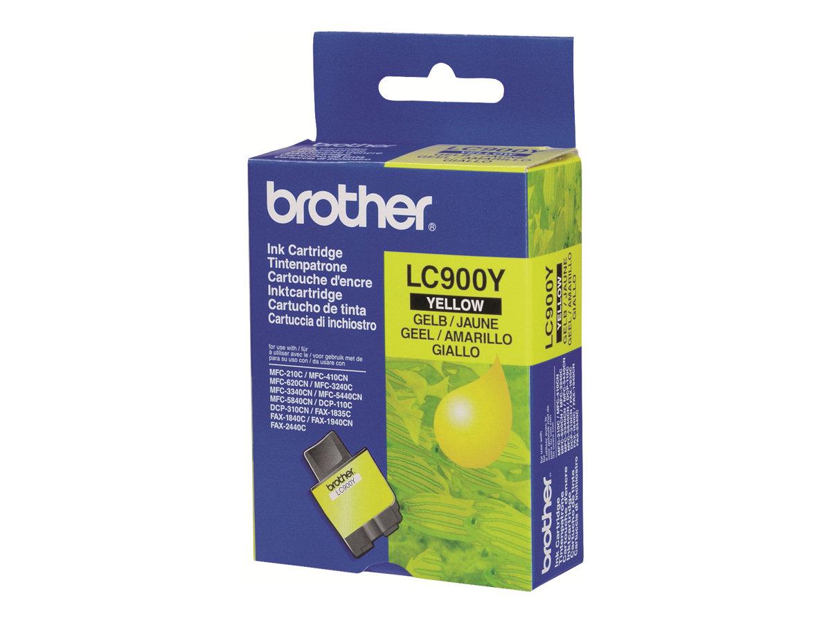 Brother LC900Y - jaune - originale - cartouche d'encre