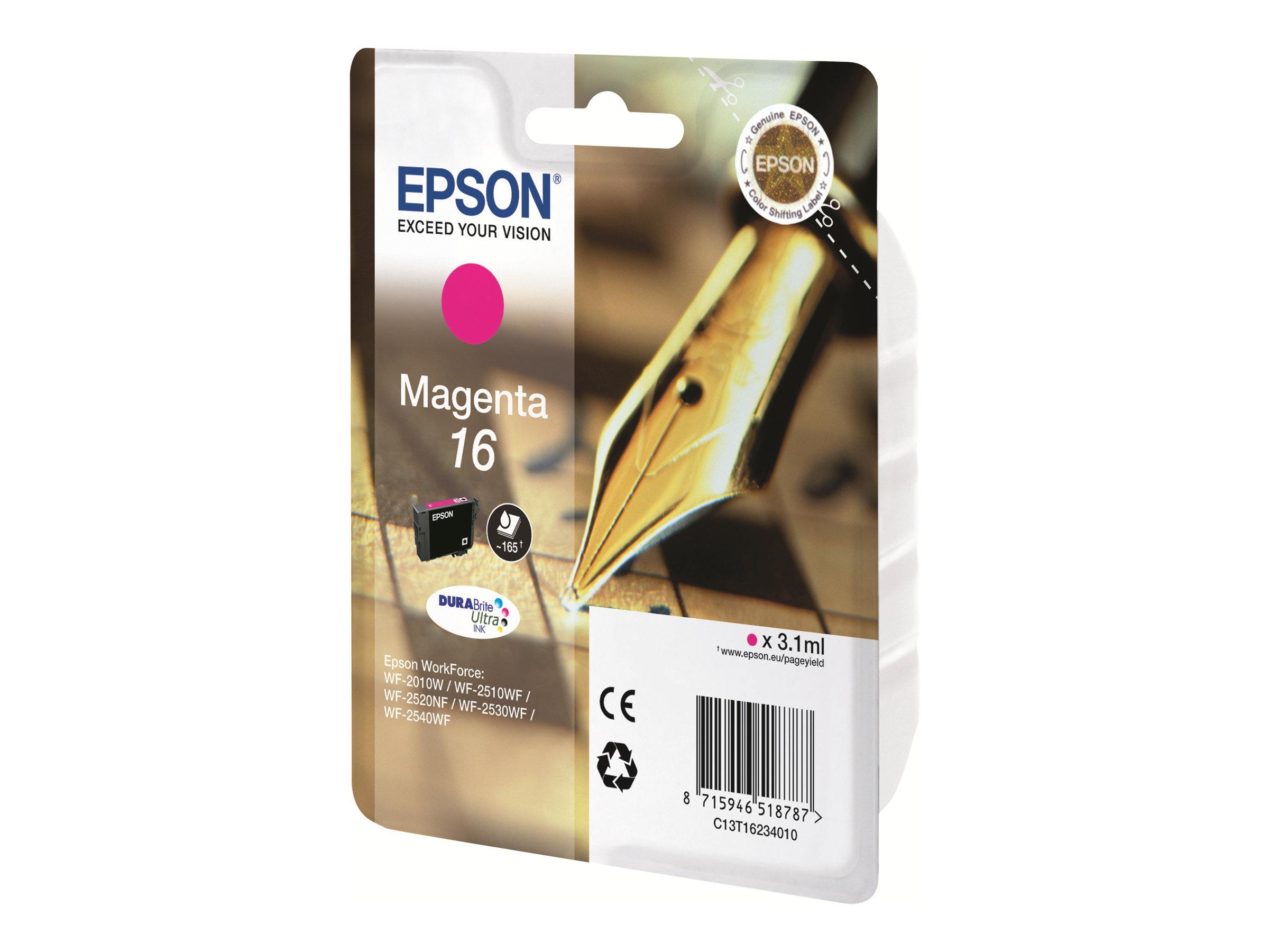 epson t16 stylo plume magenta originale cartouche d 39 encre epson. Black Bedroom Furniture Sets. Home Design Ideas