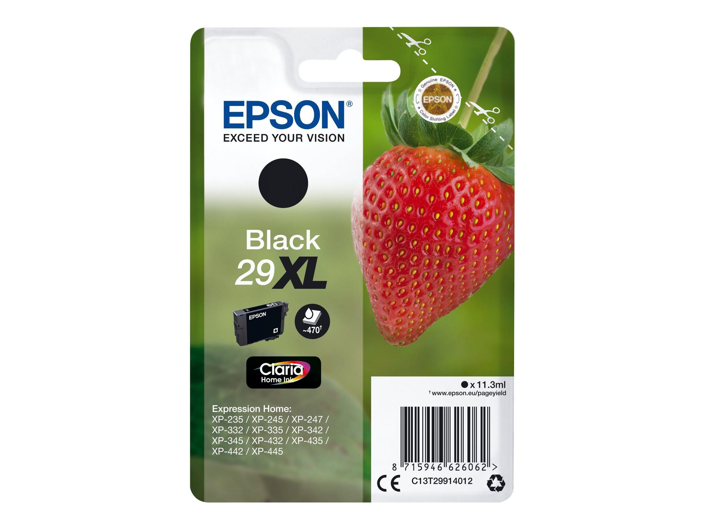 Epson T29XL - fraise - taille XL - noir - originale - cartouche d'encre