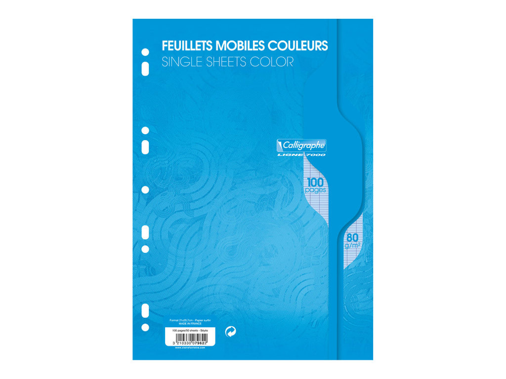 Calligraphe 7000 - 50 Feuillets mobiles - A4 - assortis - différentes couleurs disponibles