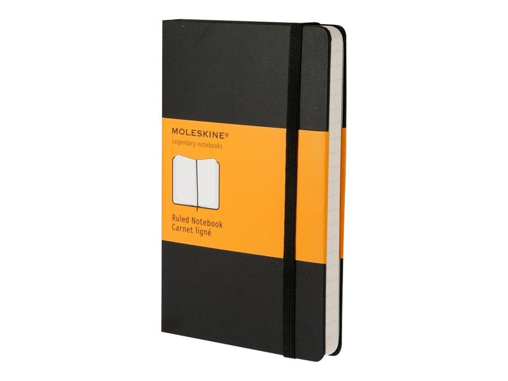 Moleskine Classic Large - Cahier - 130 x 210 mm - 240 pages - papier ivoire - ligné - noir