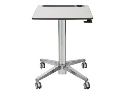 Ergotron LearnFit Sit-Stand Desk - Tabulka - mobilní - školní pomůcka - hranatý - bílé stříbro
