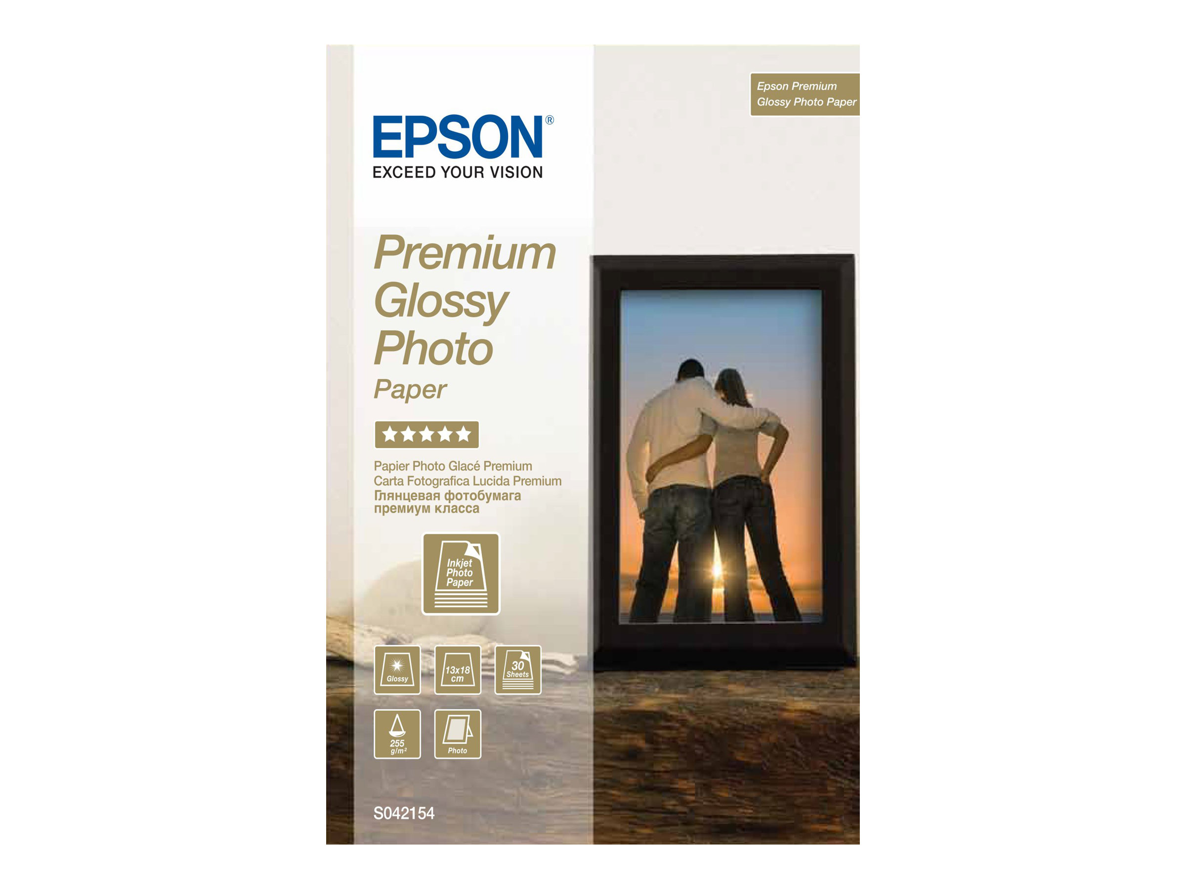 Epson Premium Glossy Photo Paper - papier photo - 30 feuille(s)