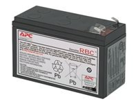 APC Replacement Battery Cartridge #154 - UPS battery (equivalent to: APC RBC154) - 1 x lead acid - for P/N: BE500R, BE600M1, BE600M1-LM, BF400C, BF500BB, BN650M1, BN675M1, BP350U