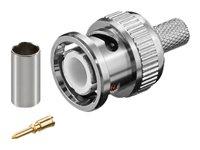 Premiumcord, BNC konektor RG58/U - krimpovací, na koax. kabel RG