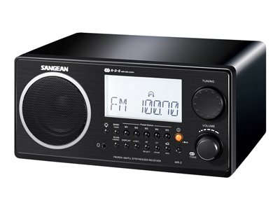 Sangean WR-2 - Radio tuner - 7 Watt (total) - black