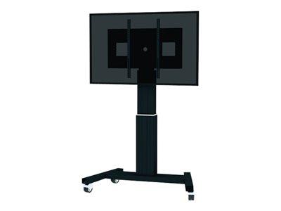 NewStar PLASMA-M2500BLACK - Vozík pro LCD / plazmový panel / multimediální přehrávač / mini PC (motorizovaný) - černá, RAL 9005 - velikost obrazovky: 42