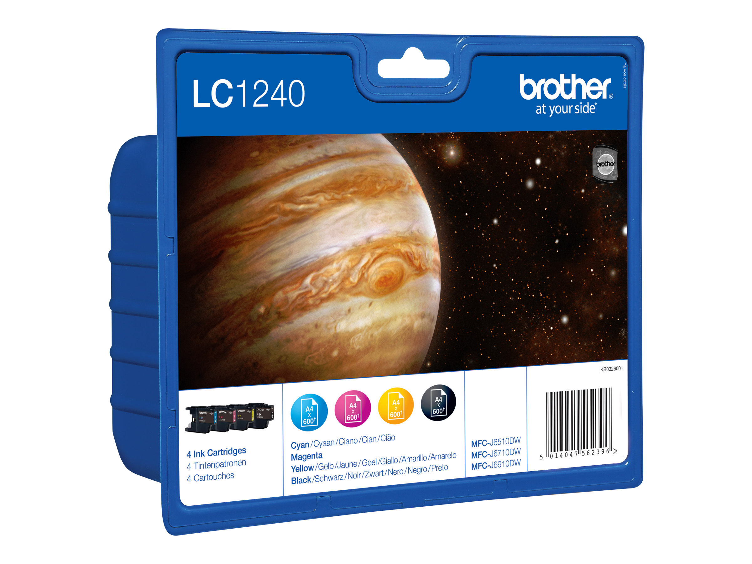 Brother LC1240 Value Pack - pack de 4 - noir, jaune, cyan, magenta - originale - cartouche d'encre