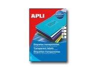 APLI-Agipa - Étiquettes adhésives permanentes - invisible - 63.5 x 38.1 mm 420 étiquette(s) ( 20 feuille(s) x 21 )