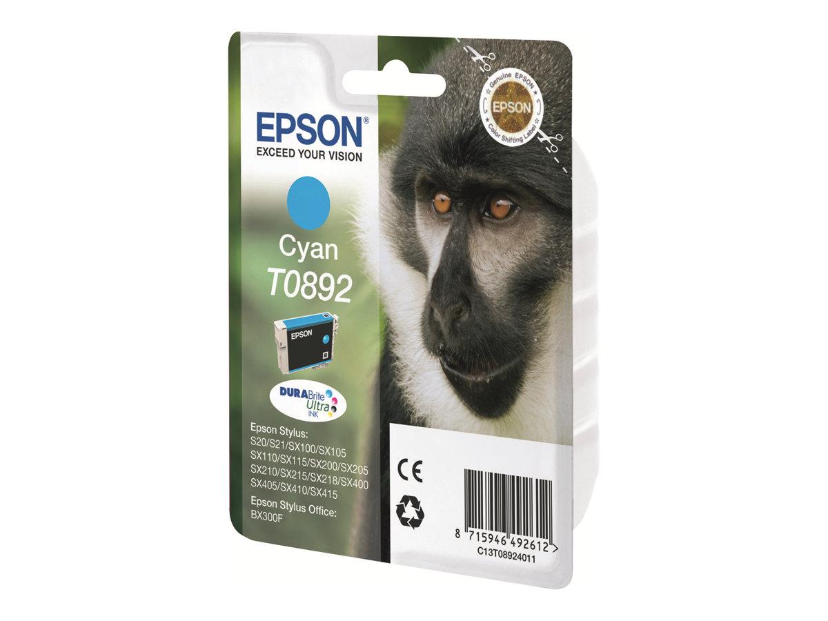 Epson T0892 Singe - cyan - originale - cartouche d'encre