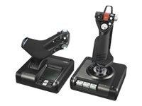 Logitech X52 Professional H.O.T.A.S. Joystick og speeder kabling