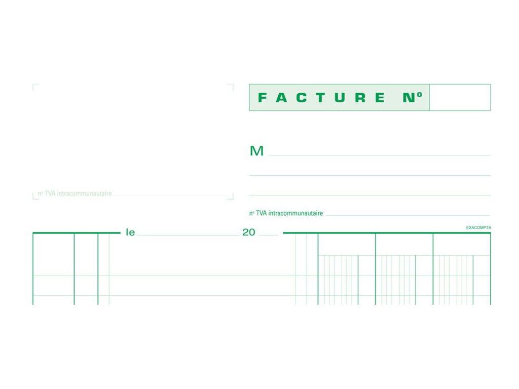 Exacompta - Manifold de factures TVA - A4 - en triple