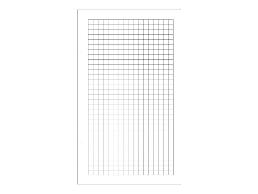 Exacompta Exatime 17 - Recharge pour organiseur - 105 x 172 mm - 44 feuilles - blanc - quadrillé