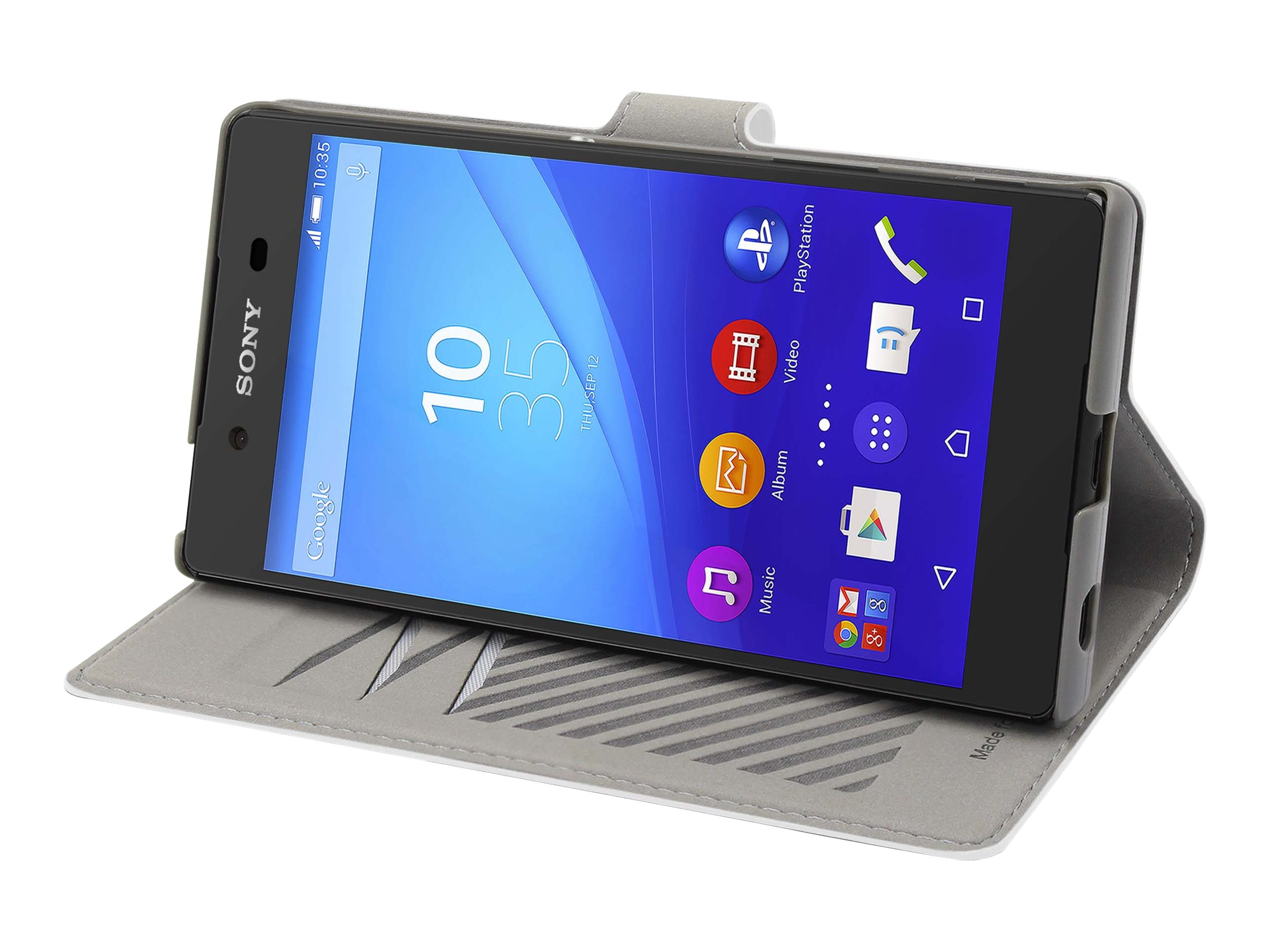 Muvit MFX slim s folio - Protection à rabat pour Sony XPERIA Z5 Premium - blanc