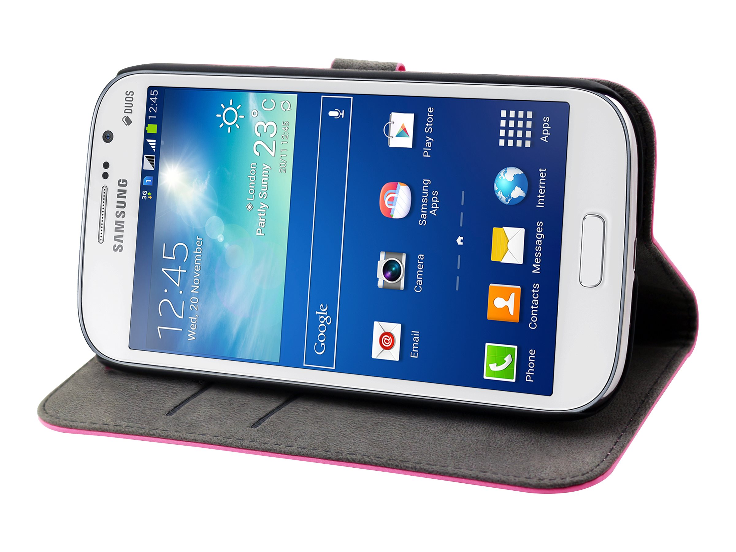 Muvit Slim S Folio - Protection à rabat pour Samsung Galaxy Grand Neo - rose