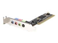 StarTech.com 4 Channel Low Profile PCI Sound Adapter Card AC97 3D Audio Effects