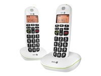 Image of DORO PhoneEasy 100W Duo - cordless phone with caller ID + additional handset