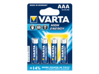 Varta High Energy batterie - type AAA - Alcaline x 4