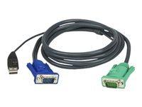 ATEN 2L-5202U - câble clavier / vidéo / souris (KVM) - 1.8 m