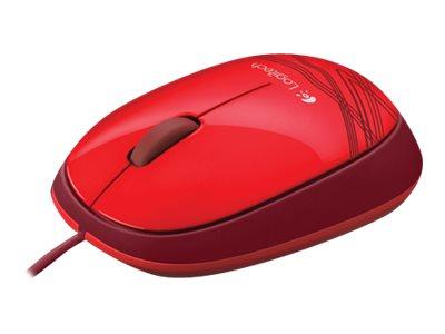 logitech m105 souris usb rouge souris filaires. Black Bedroom Furniture Sets. Home Design Ideas