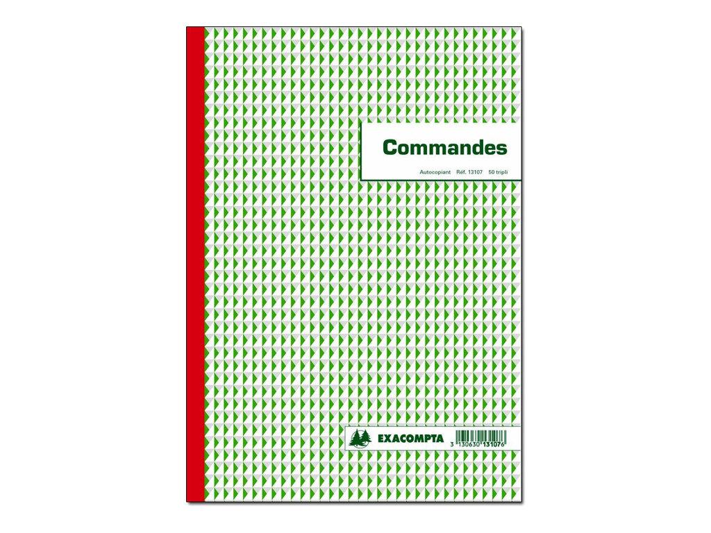 Exacompta - 5 Manifolds de reçus - 50 feuilles - A4 - en triple
