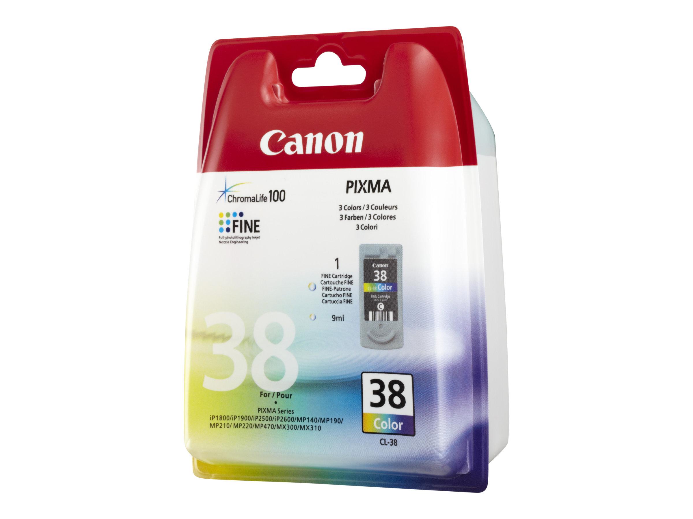 Canon CL-38 - couleur (cyan, magenta, jaune) - originale - cartouche d'encre