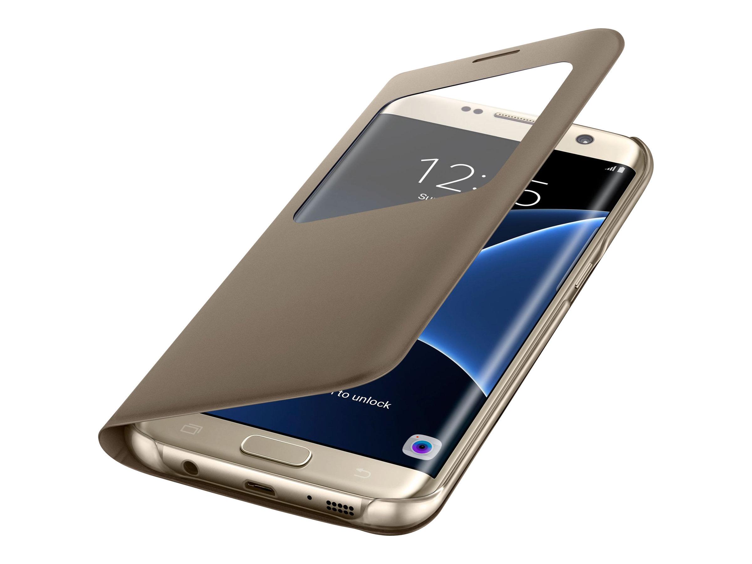 Samsung S View Cover EF-CG935 - Protection à rabat pour Galaxy S7 edge - différents coloris