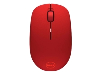 Dell WM126 - Mouse - optical - 3 buttons - wireless - 2.4 GHz - USB wireless receiver - red - for Chromebook 11 31XX, 13 3380; Inspiron 14 3467; Latitude 3480, 3580; Precision 3520