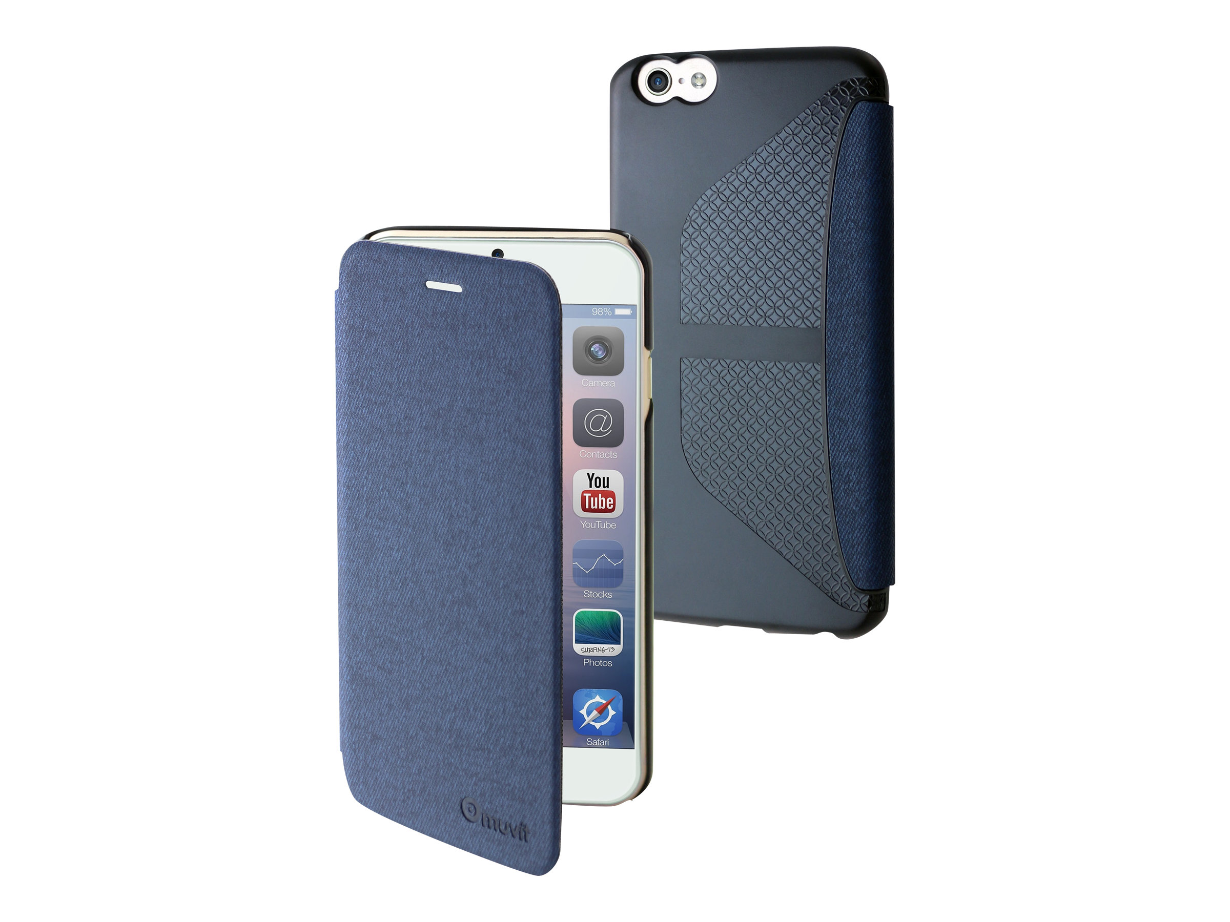 Muvit Easy Folio - Protection à rabat pour iPhone 6 - bleu