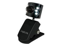 LogiLink Webcam USB with LED Webkamera farve 0,3 MP 640 x 480 USB