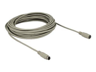 DeLock - Prodlužovací kabel pro klávesnici/myš - PS/2 (F) do PS/2 (M) - 10 m - šedá