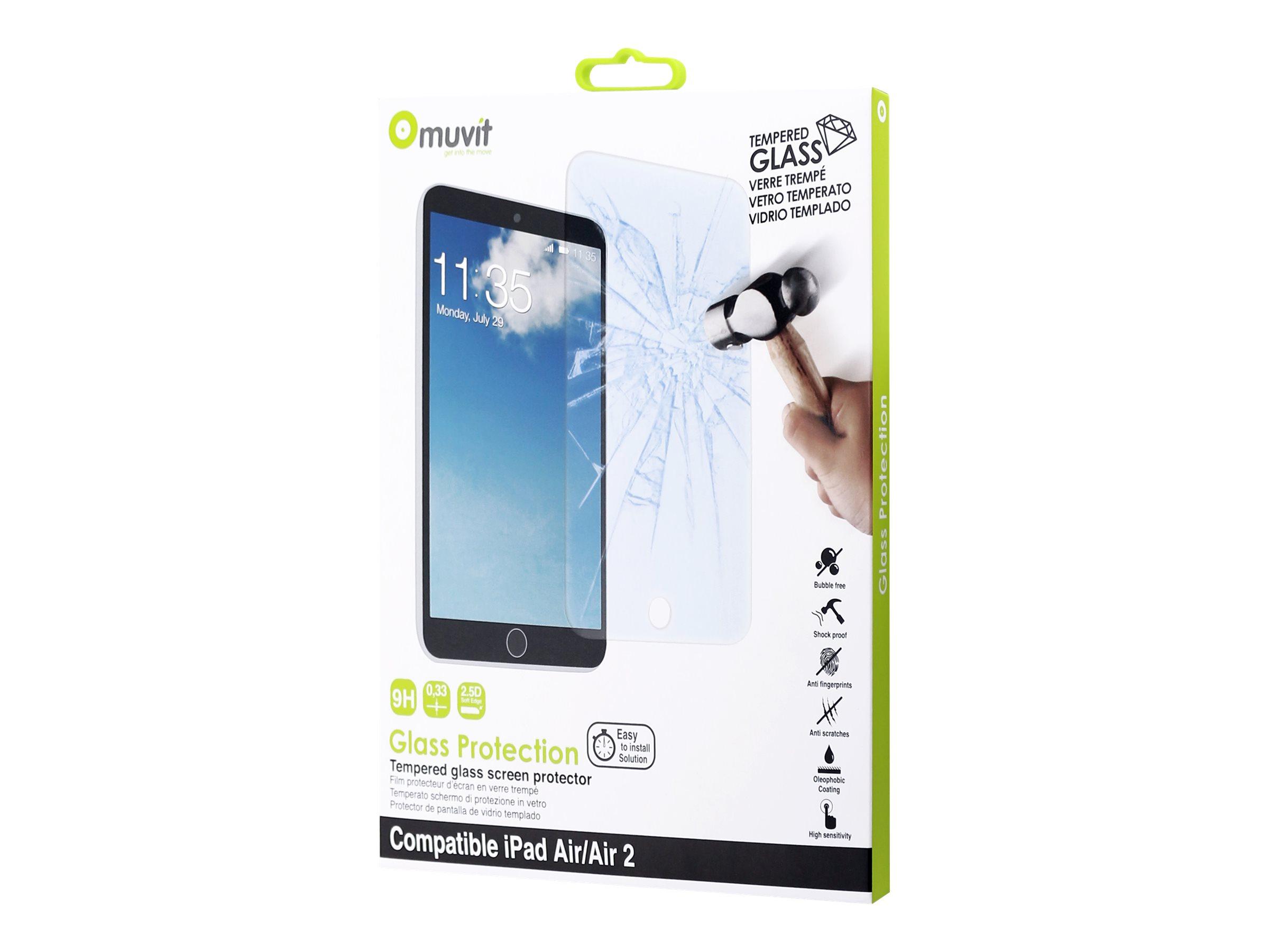 Muvit Customline - 1 film de Protection d'écran - verre trempé - pour iPadAir 2
