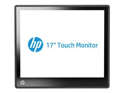 "HP L6017tm Retail Touch Monitor - LED monitor - 17"" (17"" viewable) - 1280 x 1024 - TN - 225 cd/m² - 800:1 - 30 ms - speakers - jack black"
