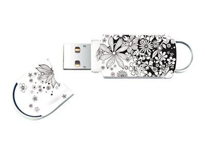 Integral Xpression Pattern Flowers - Jednotka USB flash - 32 GB - USB 2.0