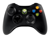 Microsoft Xbox 360 Wireless Controller Gamepad trådløs sort
