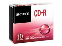 Sony 10CDQ80SS - CD-R x 10 - 700 Mo - support de stockage
